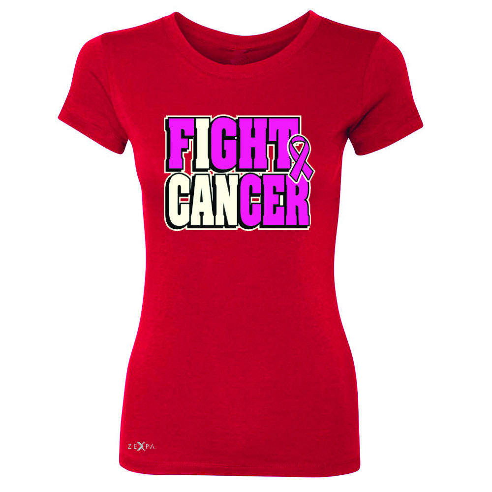 Fight Cancer I CAN Women's T-shirt Breast Cancer Tee - Zexpa Apparel - 4