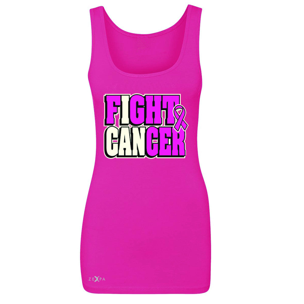 Fight Cancer I CAN Women's Tank Top Breast Cancer Sleeveless - Zexpa Apparel - 2