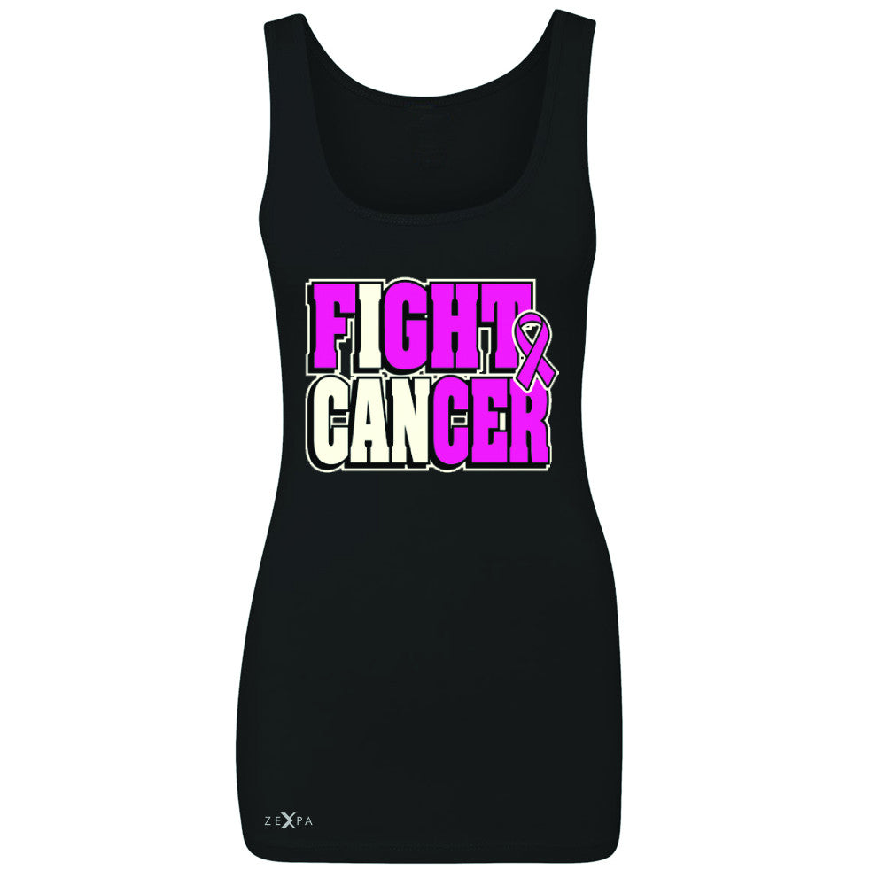 Fight Cancer I CAN Women's Tank Top Breast Cancer Sleeveless - Zexpa Apparel - 1