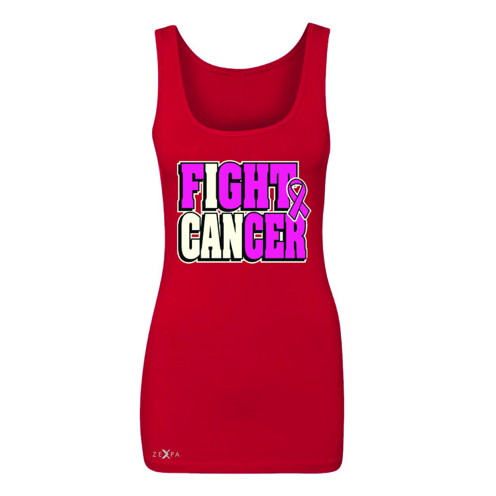 Fight Cancer I CAN Women's Tank Top Breast Cancer Sleeveless - Zexpa Apparel - 3