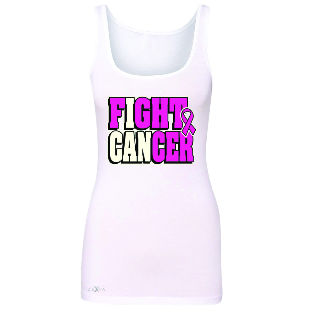 Fight Cancer I CAN Women's Tank Top Breast Cancer Sleeveless - Zexpa Apparel - 4