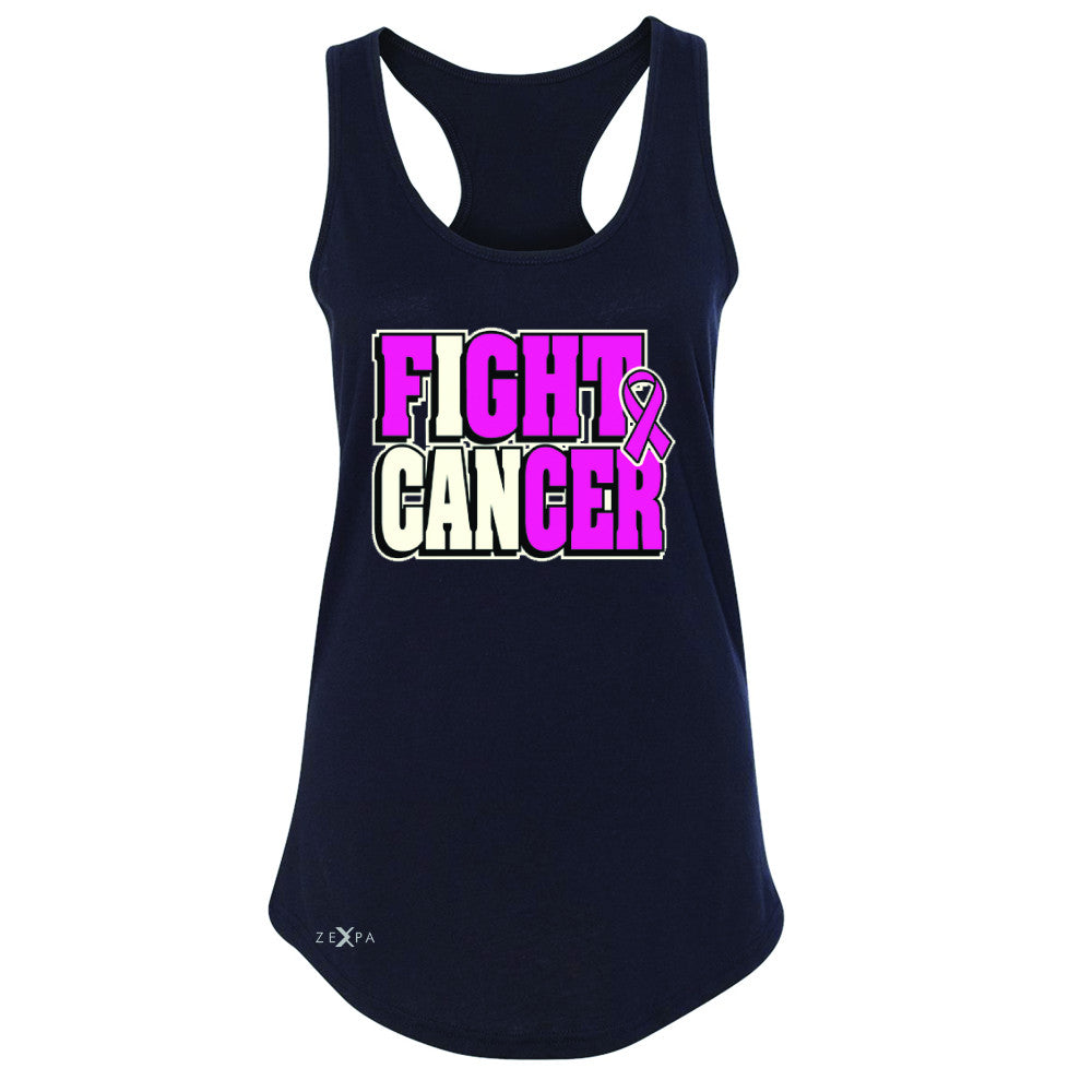 Fight Cancer I CAN Women's Racerback Breast Cancer Sleeveless - Zexpa Apparel - 1