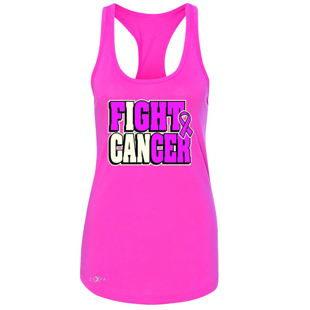 Fight Cancer I CAN Women's Racerback Breast Cancer Sleeveless - Zexpa Apparel