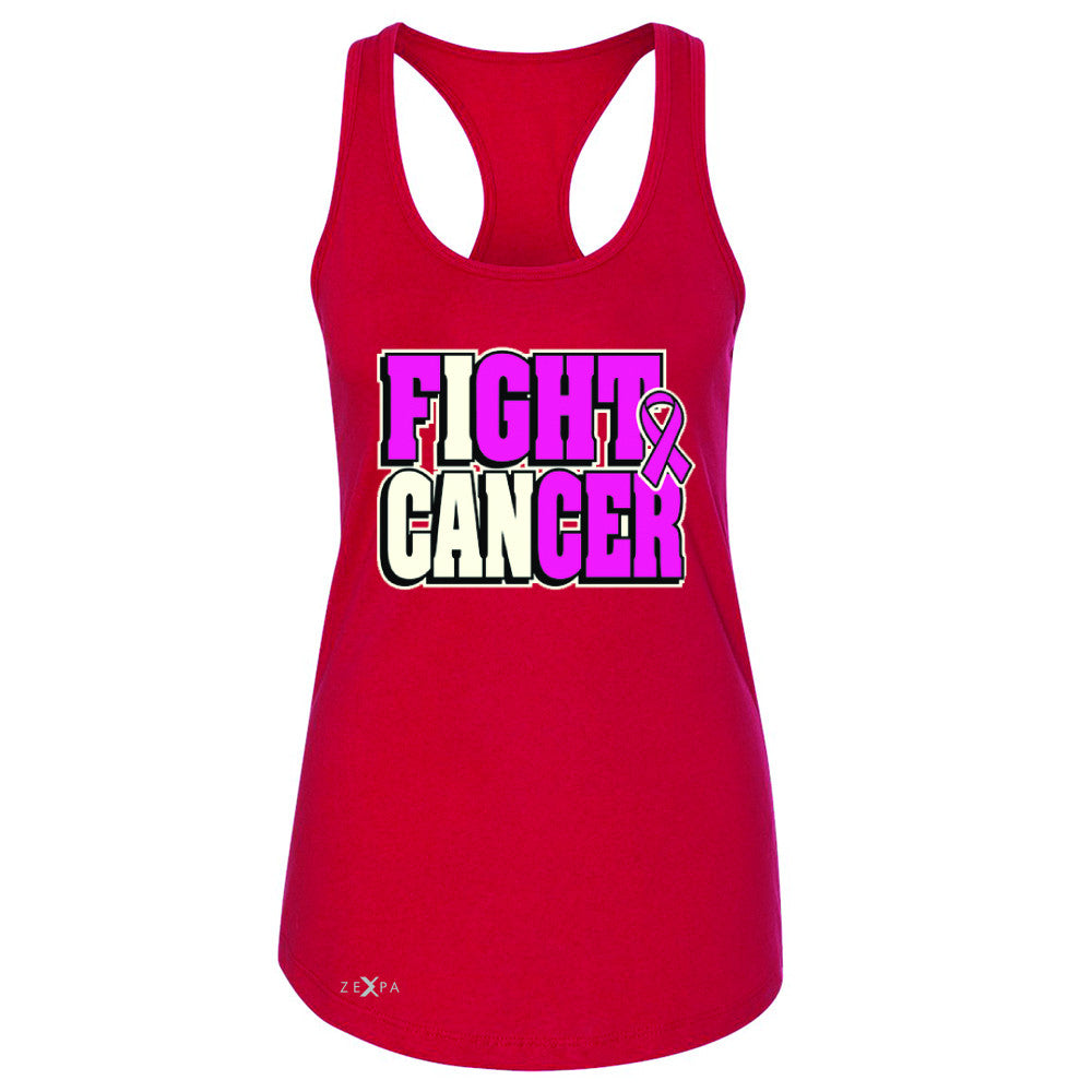 Fight Cancer I CAN Women's Racerback Breast Cancer Sleeveless - Zexpa Apparel - 3