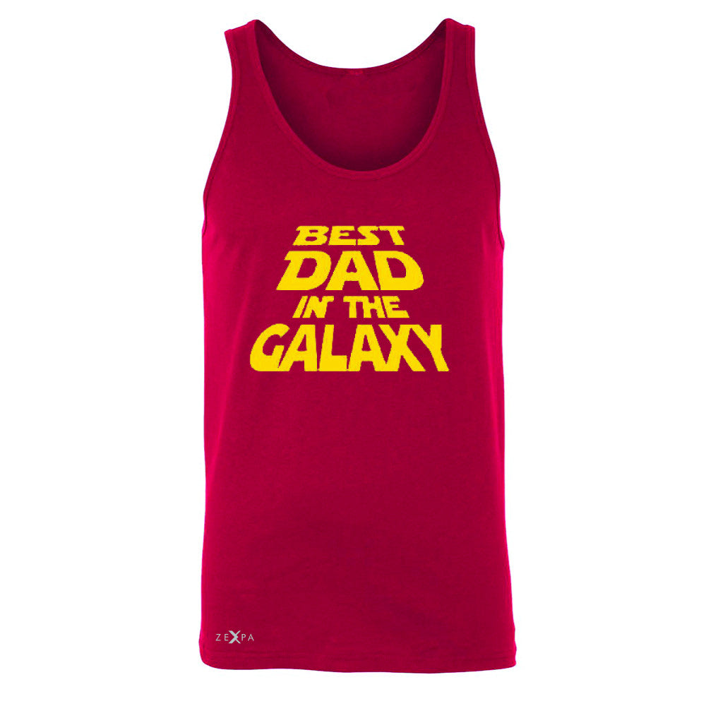 Best Dad In The Galaxy Men's Jersey Tank Father's Day Sleeveless - Zexpa Apparel Halloween Christmas Shirts