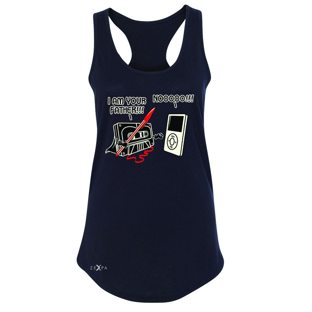 I'm Your Father - Cassette iPod SW Women's Racerback Father's Day Sleeveless - Zexpa Apparel - 1