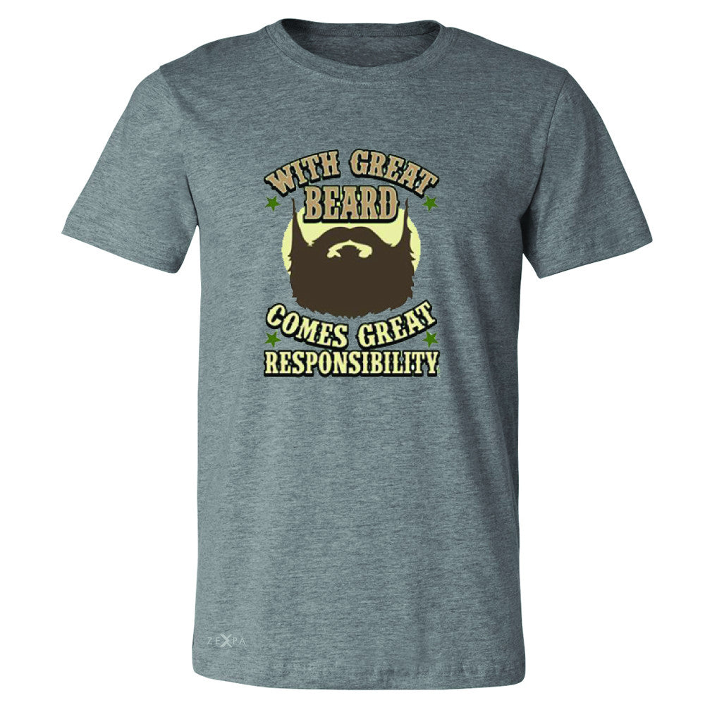 With Great Beard Comes Great Responsibility Men's T-shirt Fun Tee - Zexpa Apparel - 3