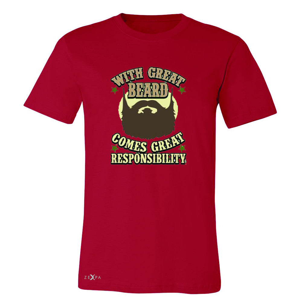 With Great Beard Comes Great Responsibility Men's T-shirt Fun Tee - Zexpa Apparel - 5