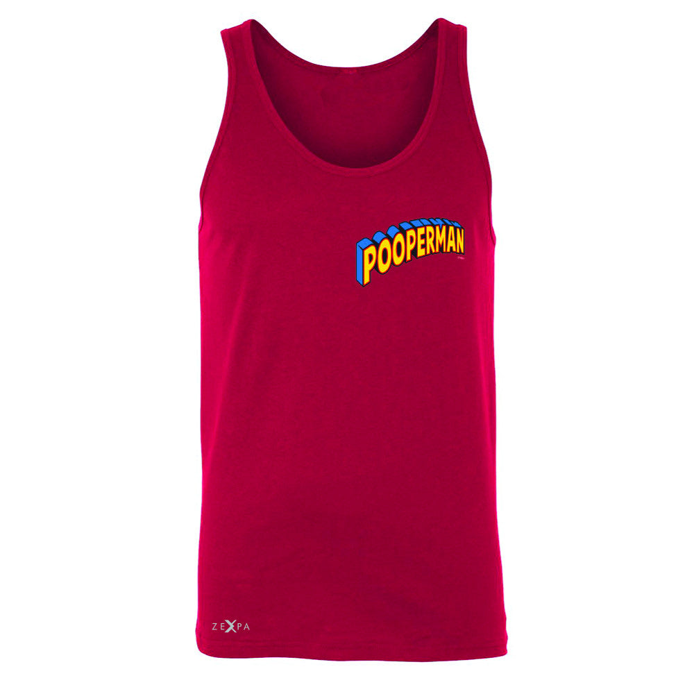 Pooperman - Proud to Be Men's Jersey Tank Funny Gift Friend Sleeveless - Zexpa Apparel - 4