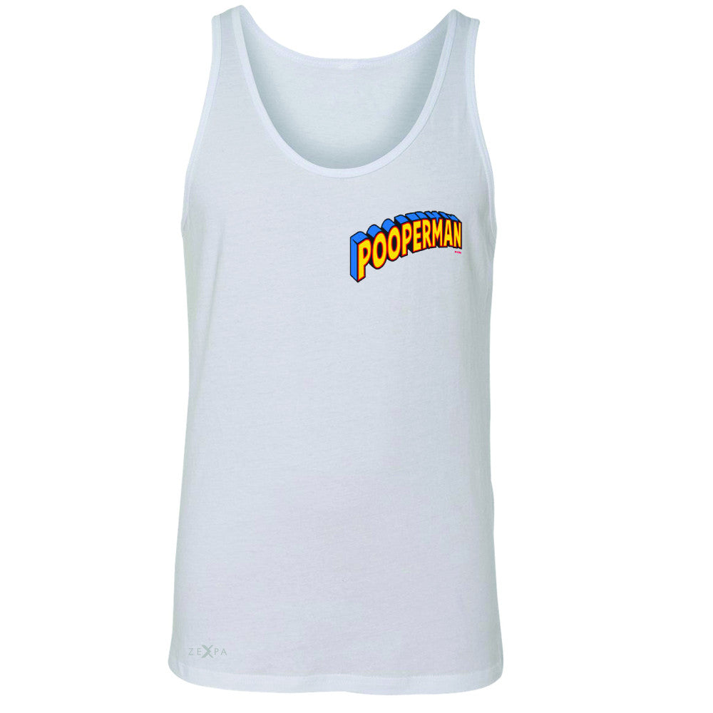 Pooperman - Proud to Be Men's Jersey Tank Funny Gift Friend Sleeveless - Zexpa Apparel - 5