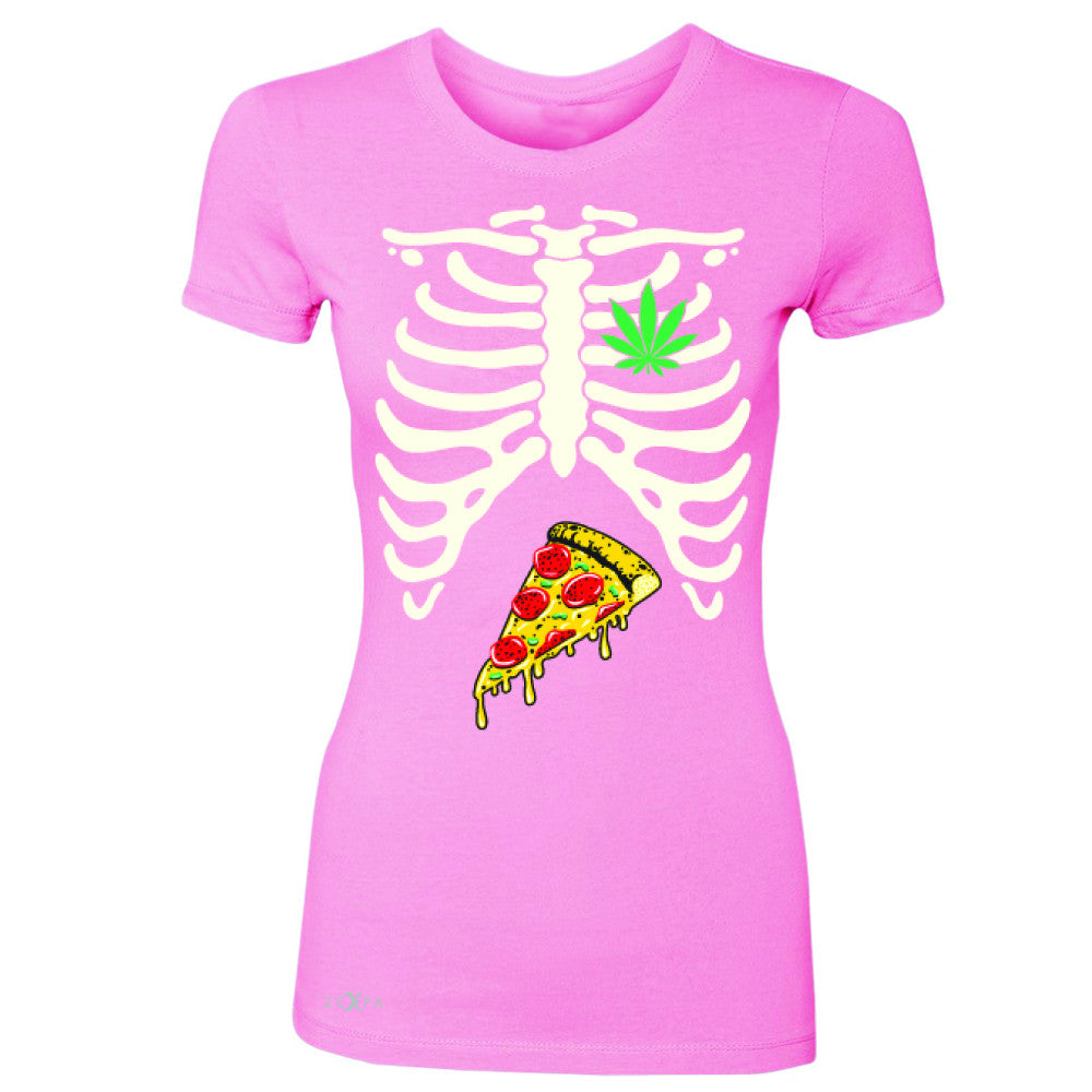 Rib Cage Weed Pizza Muchies Women's T-shirt Funny Gift Friend Tee - Zexpa Apparel - 3