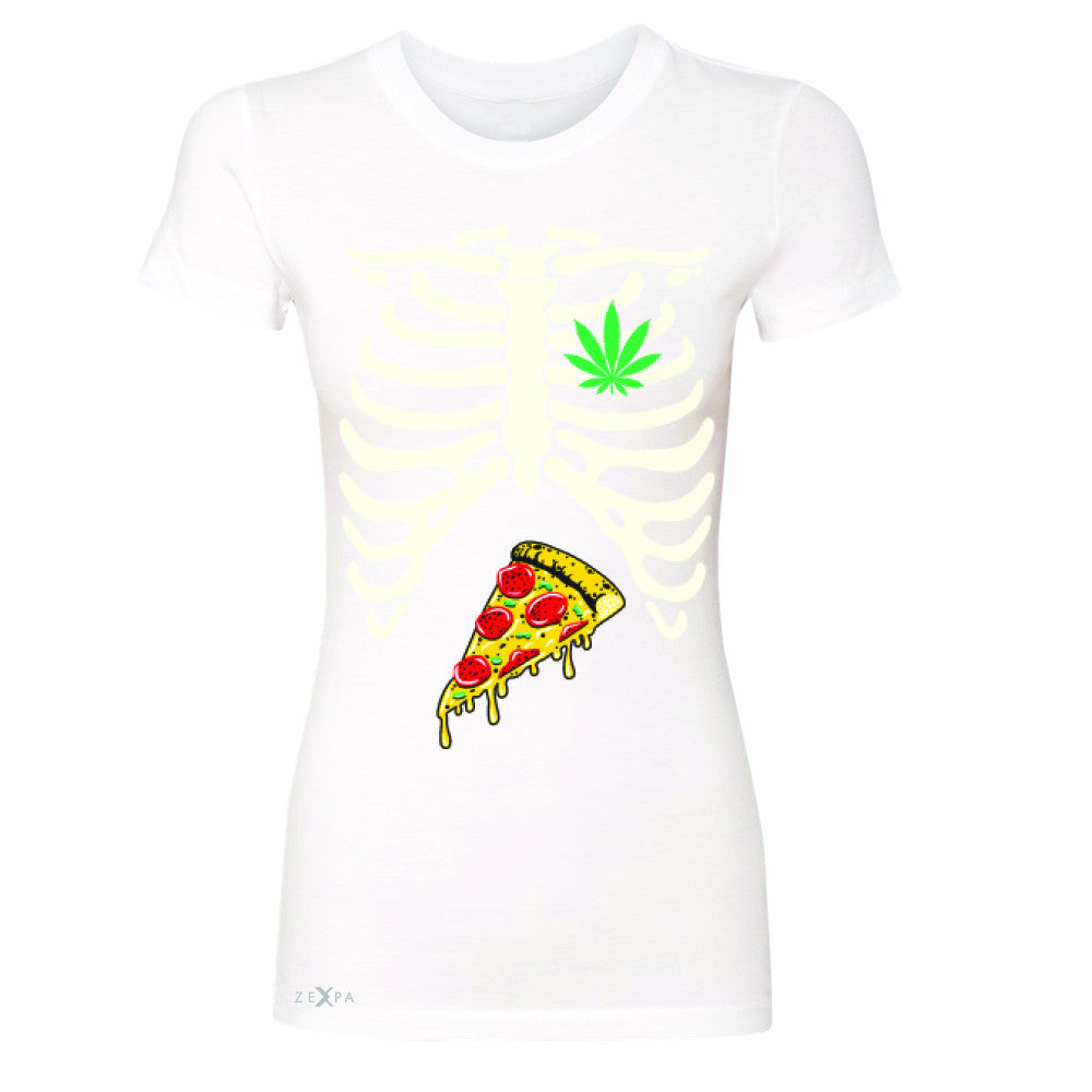 Rib Cage Weed Pizza Muchies Women's T-shirt Funny Gift Friend Tee - Zexpa Apparel - 5