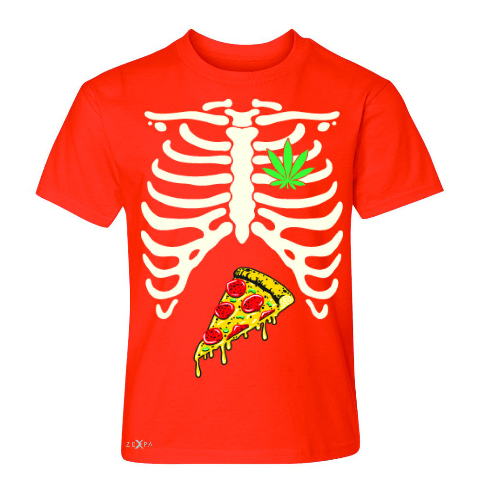 Rib Cage Weed Pizza Muchies Youth T-shirt Funny Gift Friend Tee - Zexpa Apparel - 2