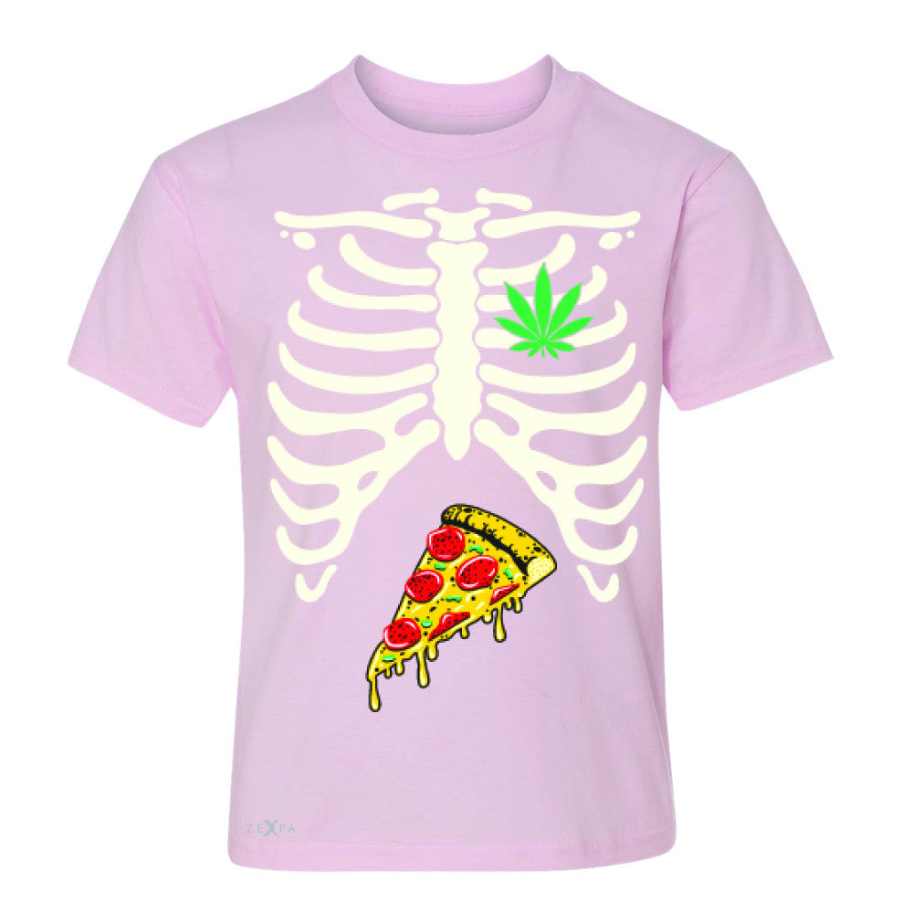 Rib Cage Weed Pizza Muchies Youth T-shirt Funny Gift Friend Tee - Zexpa Apparel - 3