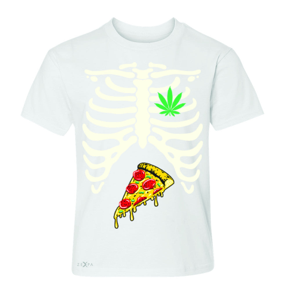 Rib Cage Weed Pizza Muchies Youth T-shirt Funny Gift Friend Tee - Zexpa Apparel - 5