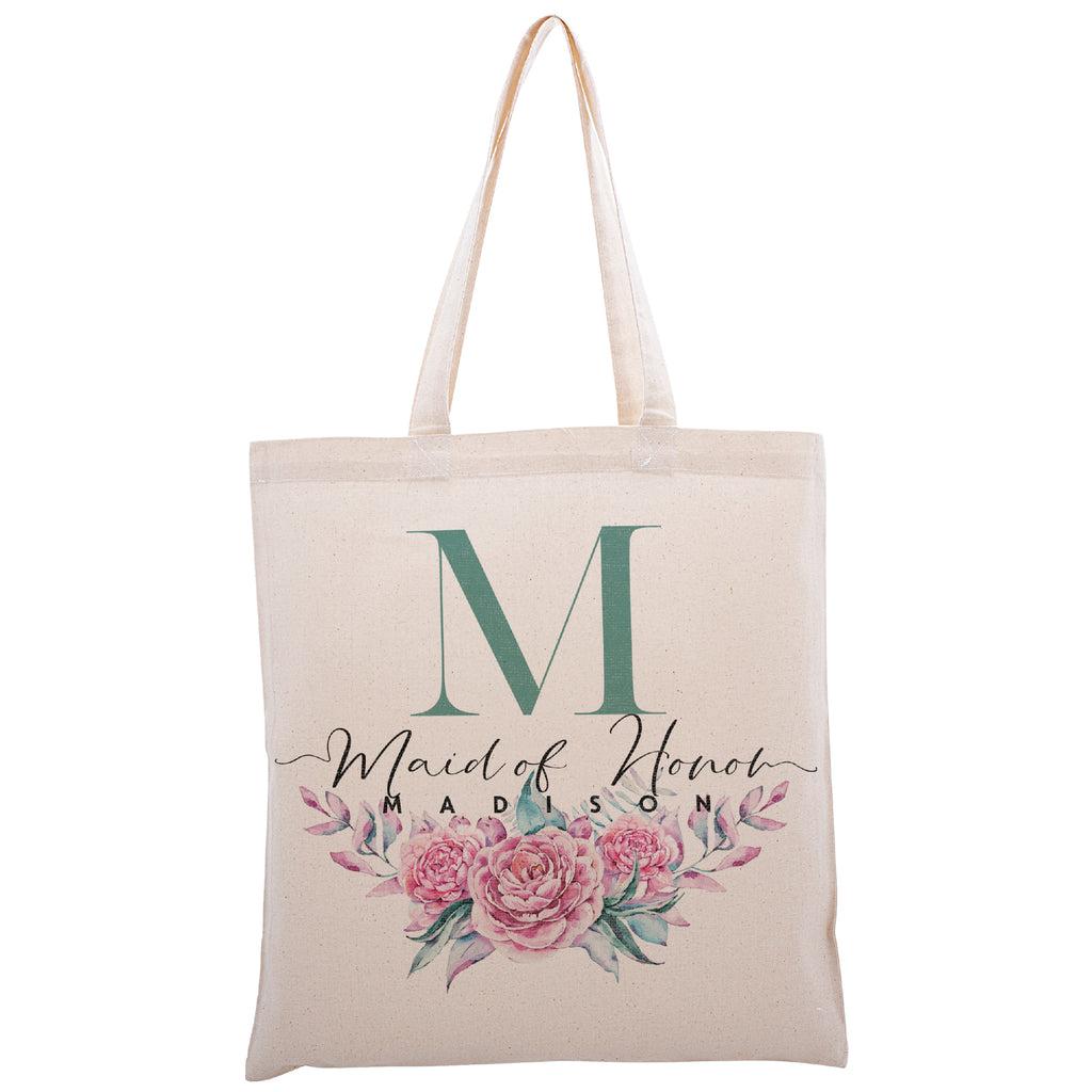 Personalized Tote Bag For Bridesmaids Wedding | Customized Bachelorette Party Bag | Baby Shower and Events Totes |Design #9