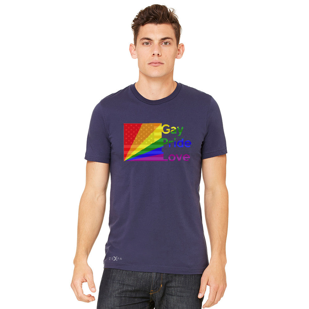 Zexpa Apparel™ American - Rainbow Flag  Gay Pride Love Men's T-shirt Pride Tee - Zexpa Apparel Halloween Christmas Shirts
