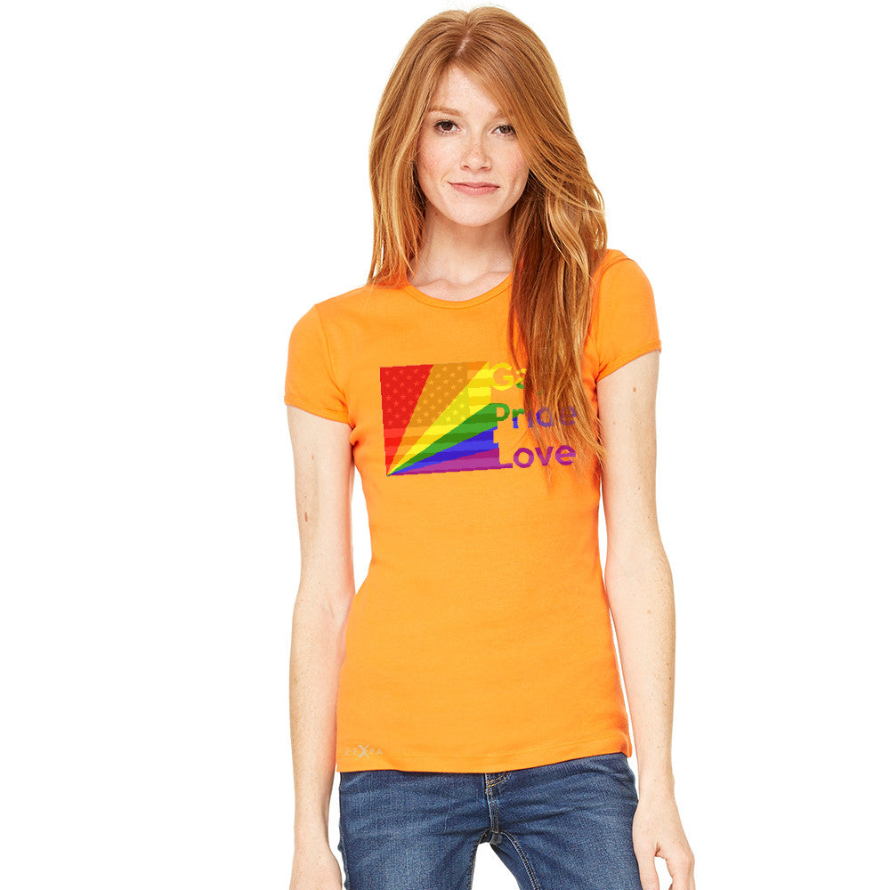 Zexpa Apparel™ American - Rainbow Flag  Gay Pride Love Women's T-shirt Pride Tee - Zexpa Apparel Halloween Christmas Shirts