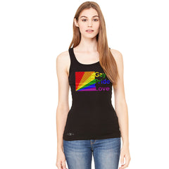 Zexpa Apparel™ American - Rainbow Flag  Gay Pride Love Women's Tank Top Pride Sleeveless - Zexpa Apparel Halloween Christmas Shirts