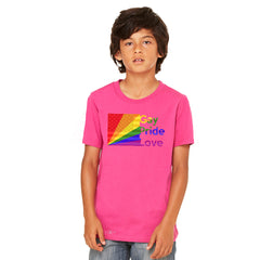 Zexpa Apparel™ American - Rainbow Flag  Gay Pride Love Youth T-shirt Pride Tee - Zexpa Apparel Halloween Christmas Shirts