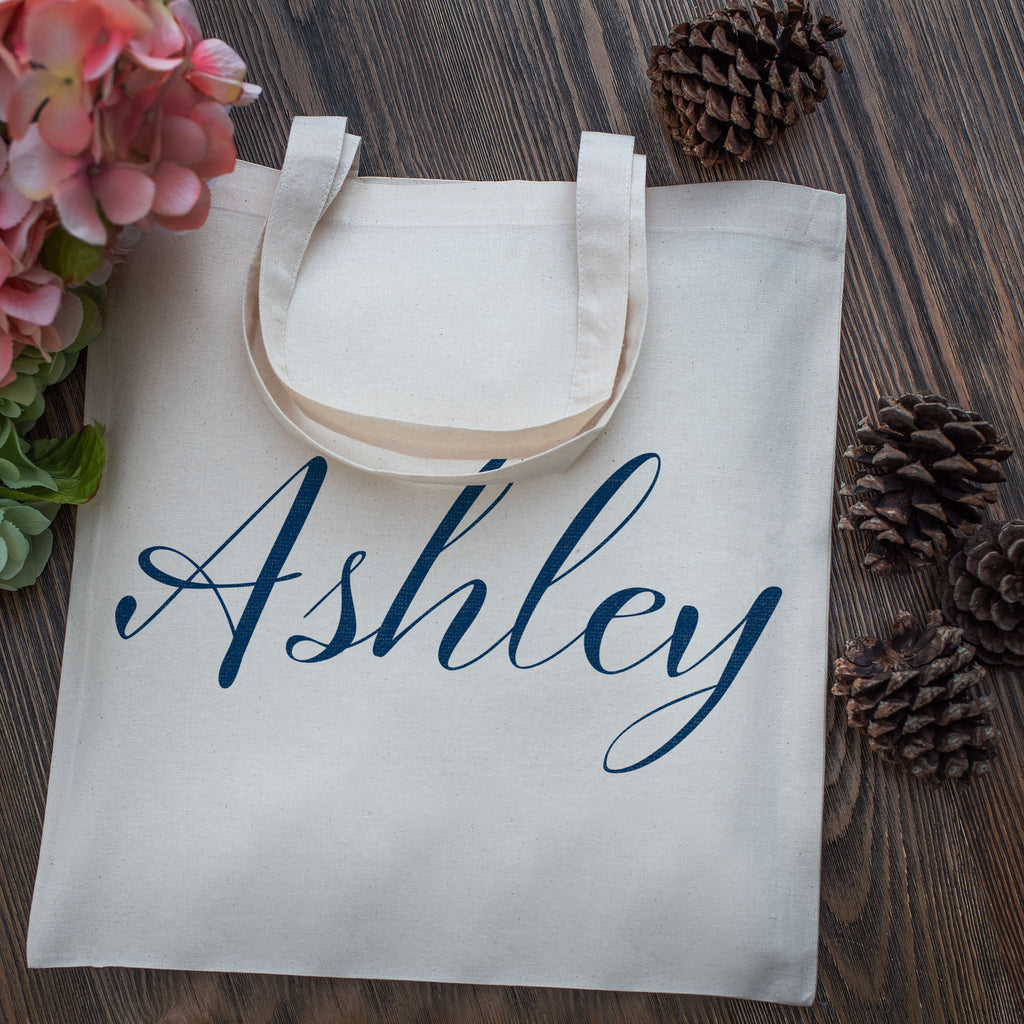Personalized Tote Bag | Customize Name Travel Bachelorette Party and Gift Bag | Totes for Events and Christmas Gift Bag