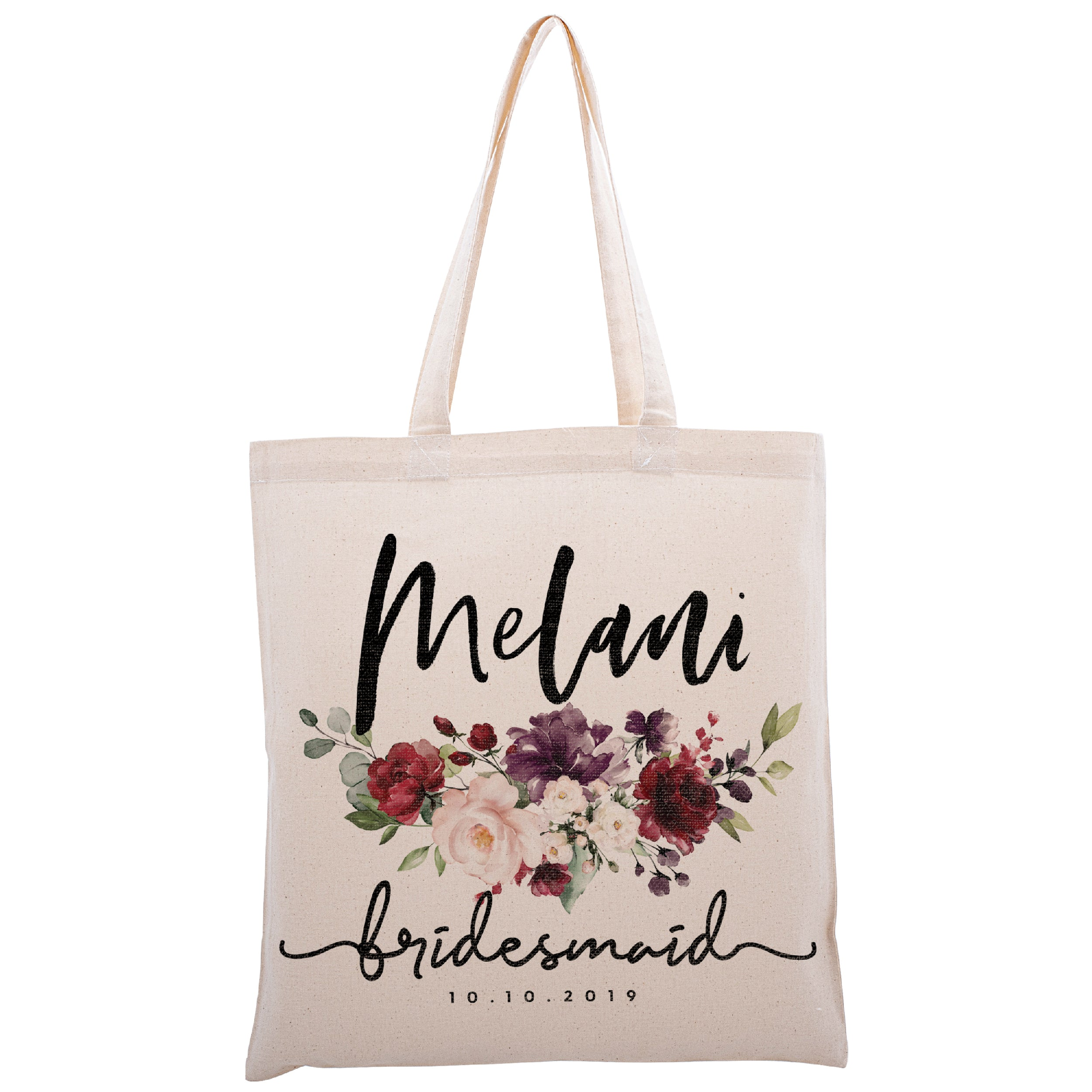 Wedding Floral Tote Bag Mother of the Bride Tote Bag Mother of Bride Bag Wedding Tote Bag Bridal Tote Bag Wedding Bag Canvas Tote Bag Bride