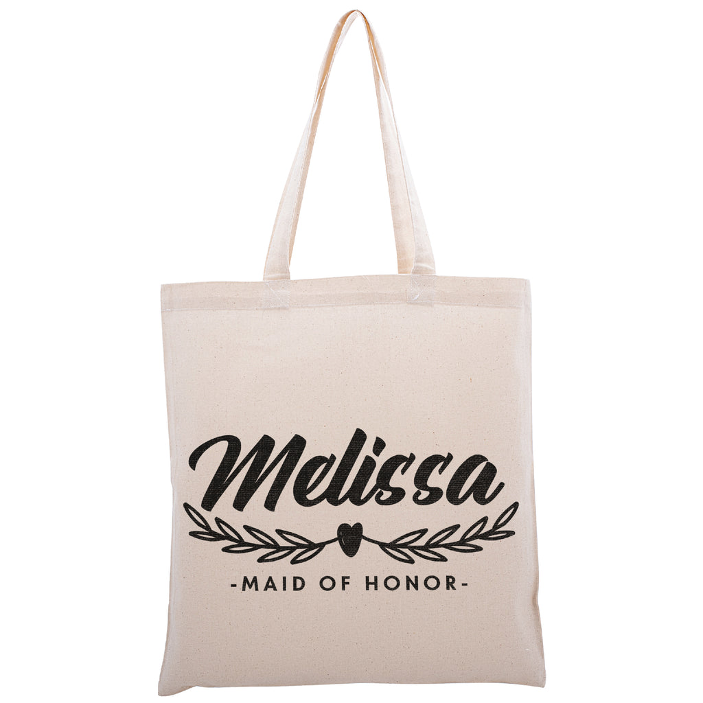 Personalized Tote Bag For Bridesmaids Wedding | Customized Bachelorette Party Bag | Baby Shower and Events Totes |Design #20