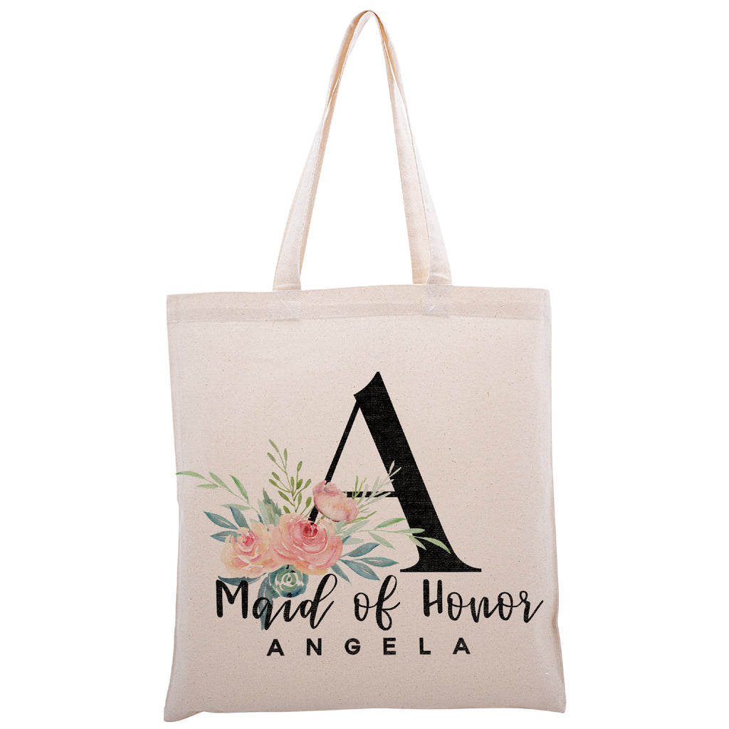 Personalized Tote Bag For Bridesmaids Wedding | Customized Bachelorette Party Bag | Baby Shower and Events Totes |Design #4