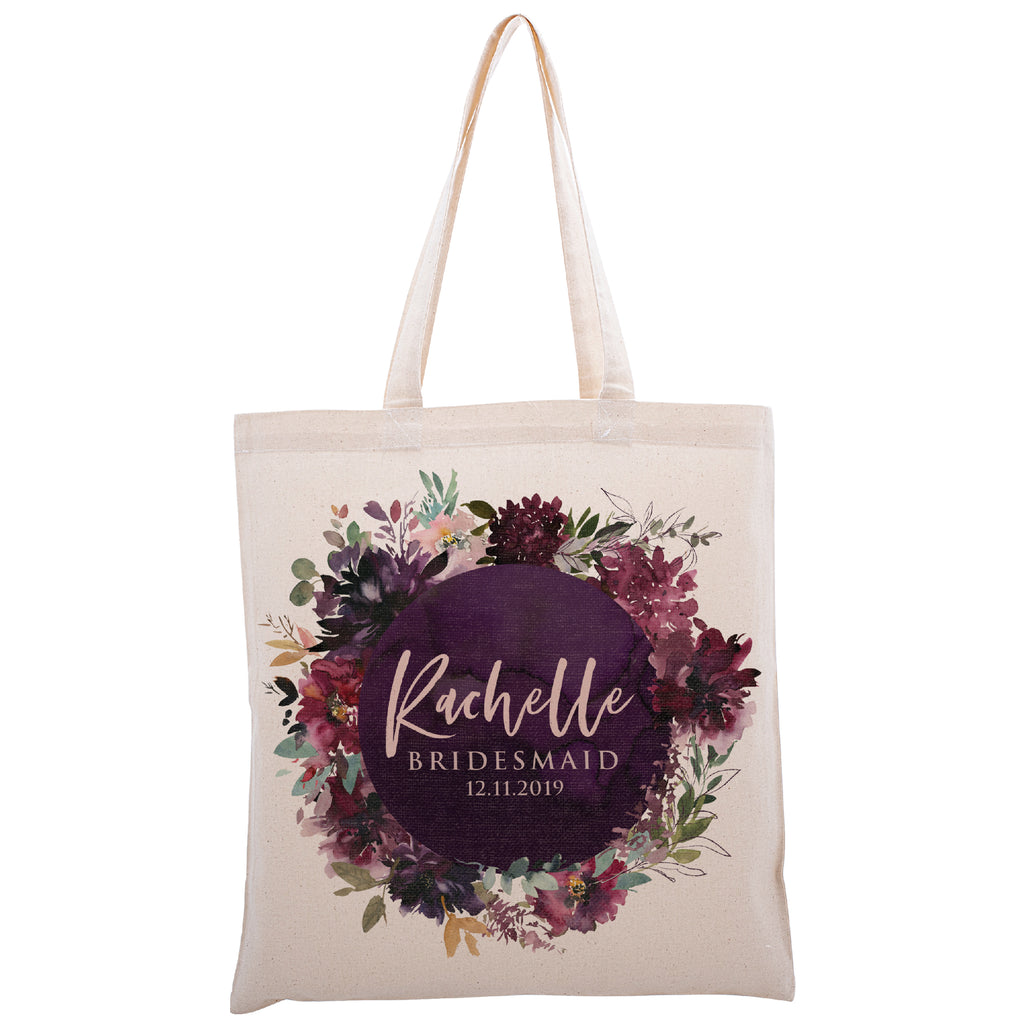 Personalized Tote Bag For Bridesmaids Wedding | Customized Bachelorette Party Bag | Baby Shower and Events Totes |Design #7