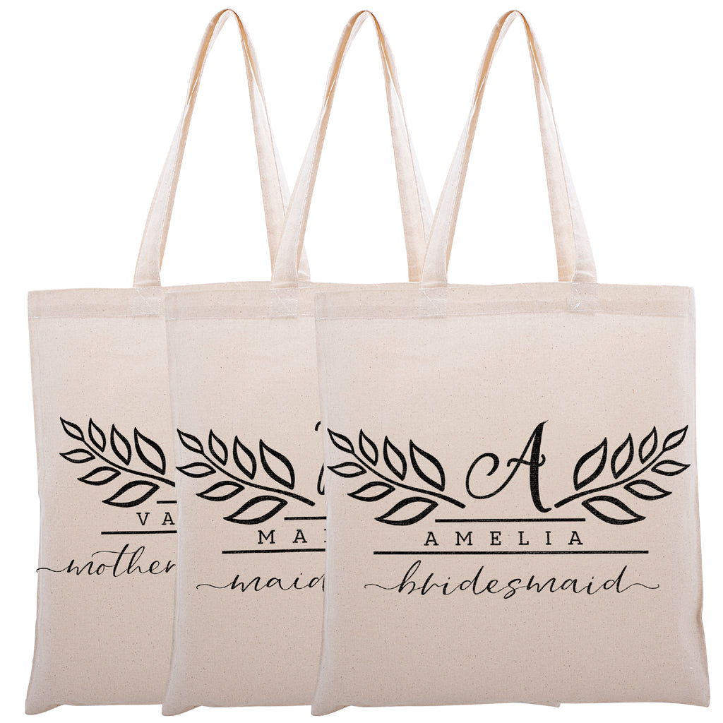 Personalized Tote Bag For Bridesmaids Wedding | Customized Bachelorette Party Bag | Baby Shower and Events Totes |Design #15