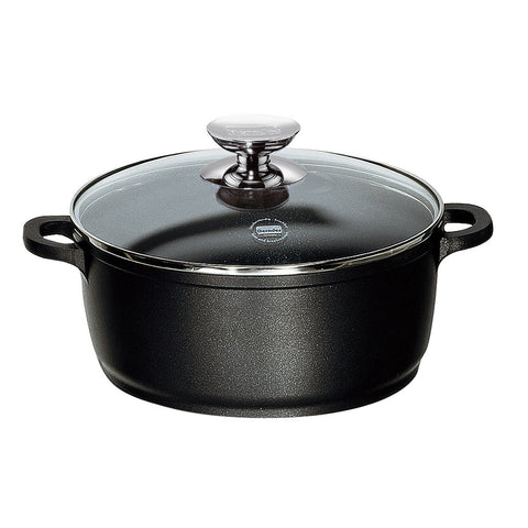 631143 Vario Click Non-Stick Induction Black Dutch Oven with Glass Lid