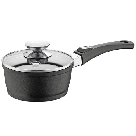 631151 Vario Click Non-Stick Induction Black Saucepan with Black Handle and Glass Lid