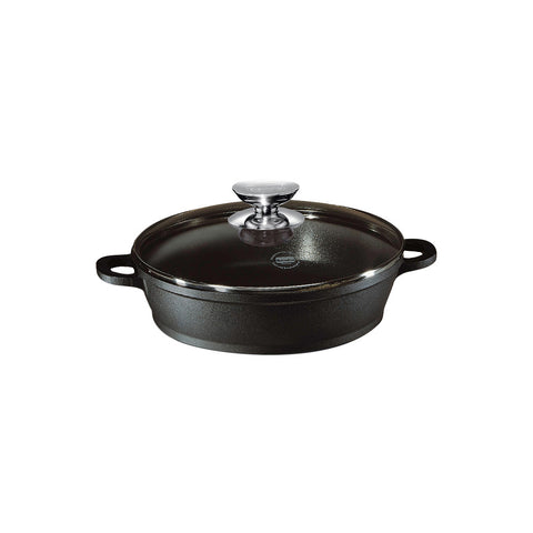 631165 Vario Click Non-Stick Induction Black Sauté Casserole with Glass Lid