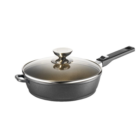 631525L Vario Click Induction Plus Black Sauté Pan with Glass Lid
