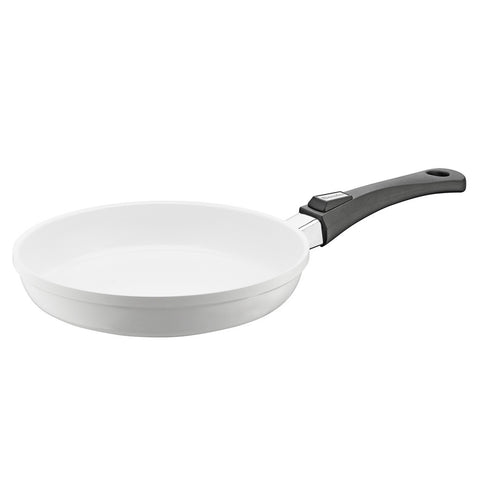 632115 Vario Click Pearl Ceramic Induction White Fry Pan with Black handle