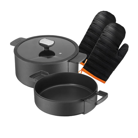 635100  B.Double Round 5 Piece Cookware Set