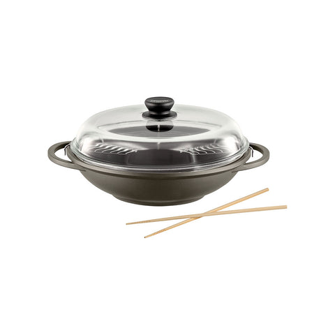 674983 Tradition Induction 13.5 Inch Wok with Glass Lid Berndes