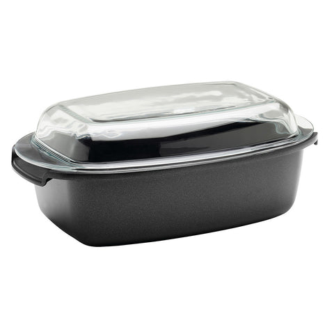 695964 SignoCast Nonstick 13 x 8.5 Inch Multi-Purpose Roaster with Glass Lid