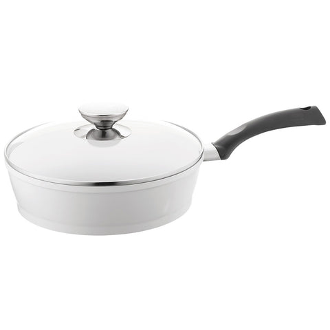697648 SignoCast Pearl Ceramic 4-Quart Sauté with Glass Lid Berndes