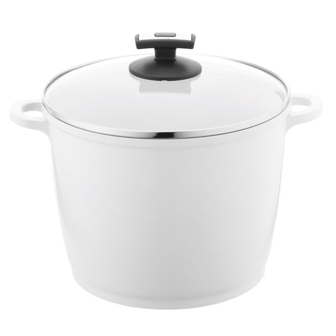 697714 EcoFit 7 Quart Covered Stock Pot Pearl Ceramic