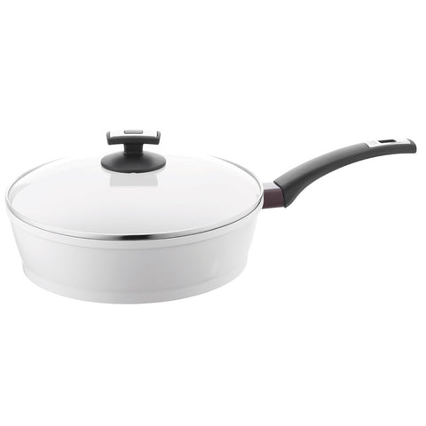 697738 EcoFit 11 Inch Covered Saute Pan Pearl Ceramic Berndes - FINAL SALE!