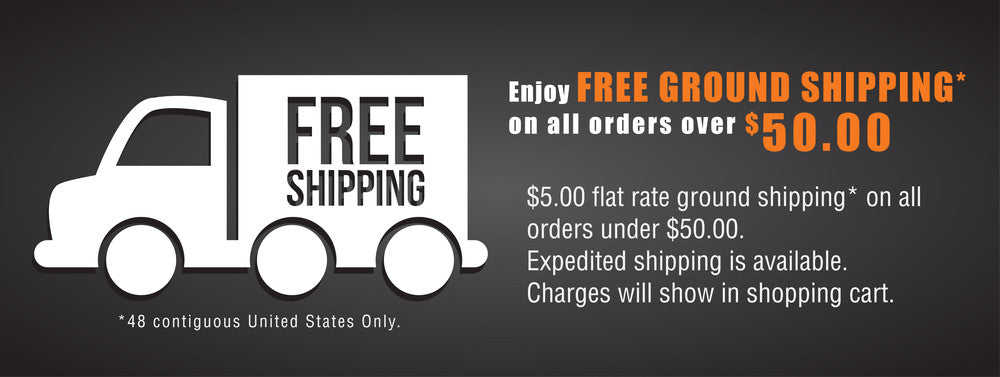 Free shipping on $50 purchase