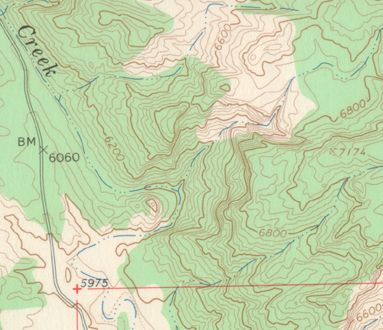Sample from USGS Topographic Map