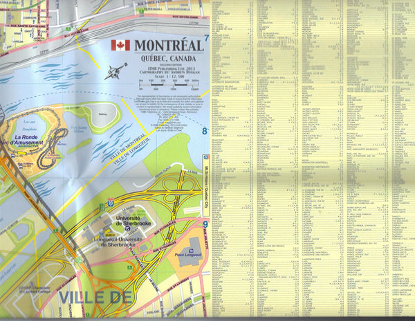Montreal & Southern Quebec Travel Reference Map 2013 - Wide World Maps & MORE! - Map - ITMB Publishing, Ltd. - Wide World Maps & MORE!