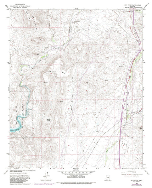 us topo - New River, AZ 7.5' - Wide World Maps & MORE! - Map - Wide World Maps & MORE! - Wide World Maps & MORE!