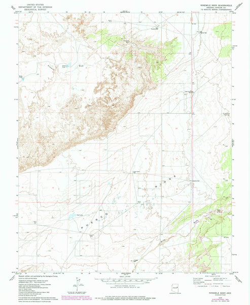 us topo - NINEMILE SEEP, Arizona (7.5'×7.5' Topographic Quadrangle) - Wide World Maps & MORE! - Map - Wide World Maps & MORE! - Wide World Maps & MORE!