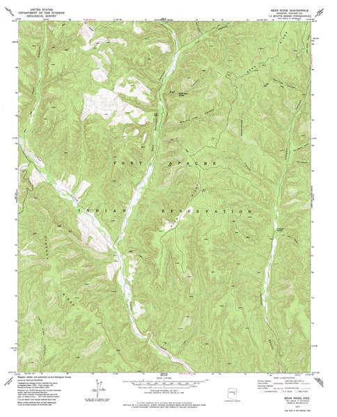 us topo - BEAR RIDGE, Arizona 7.5' - Wide World Maps & MORE! - Map - Wide World Maps & MORE! - Wide World Maps & MORE!