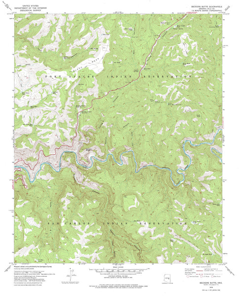 BECKERS BUTTE, Arizona 7.5' - Wide World Maps & MORE!