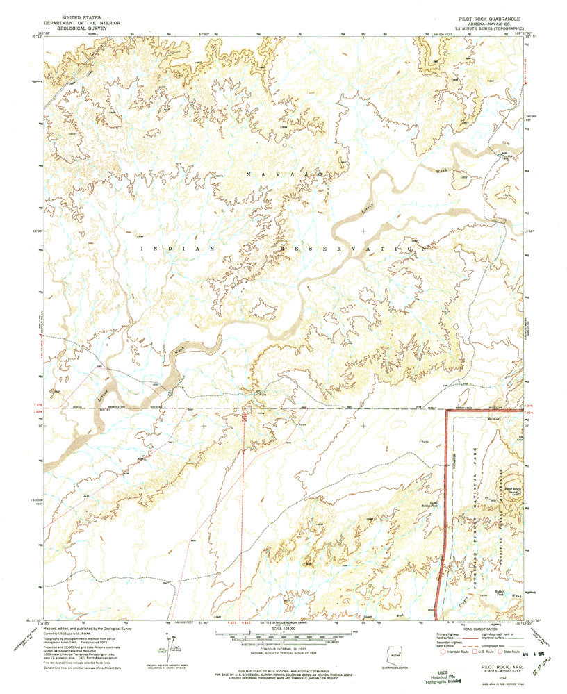 us topo - PILOT ROCK, Arizona 7.5' - Wide World Maps & MORE! - Map - Wide World Maps & MORE! - Wide World Maps & MORE!