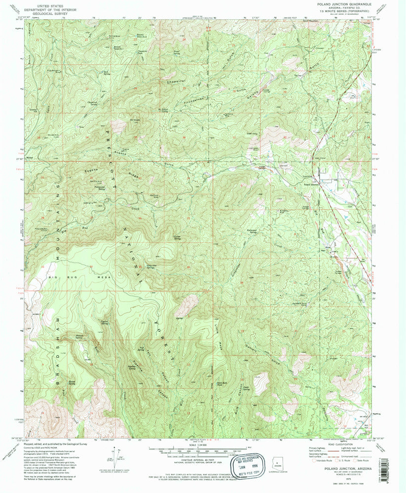 Poland Junction, AZ (7.5'×7.5' Topographic Quadrangle) - Wide World Maps & MORE!